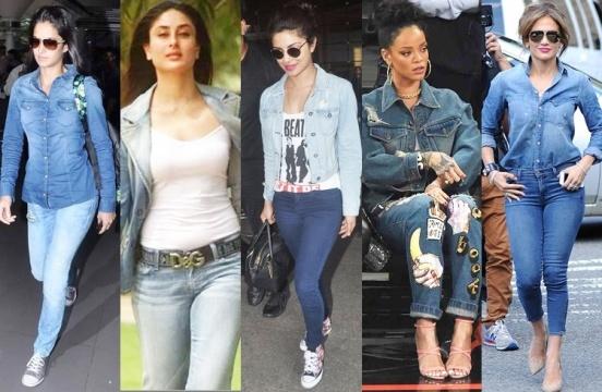 how celebrities wear denim shirts � asianfashionfans